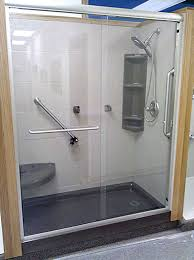 Ada Shower Door Bypass Accessible Shower Door Smith Glass