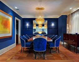 dark blue dining chairs dining room eclectic with crown molding