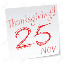 a message of us thanksgiving date of calendar royalty free cliparts