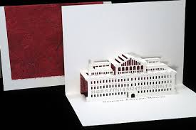 national building museum origami architecture pop up cards by