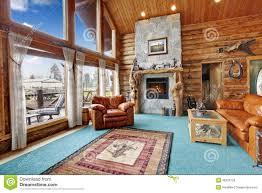 Log Cabin Living Room Designs Log Cabin Living Room Royalty Free Stock Image Image 38326756