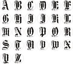 letters of the alphabet in different styles wax letter seal stamp