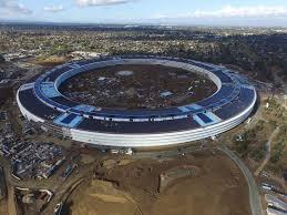 new drone footage shows progress of apple u0027s u0027spaceship u0027 campus