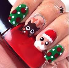 nail art easy christmas nailt ideas for surprising tree image