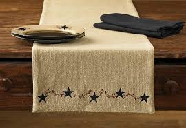 Designs For Runners Amazon Com Park Designs Burlap Table Runner 13 X 36 Home