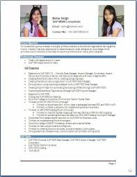 Sample Resume Usa by Resume Sap Basis Consultant And Resume Samples With Free Download