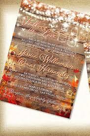 fall wedding invitations rustic fall wedding invitation on a barn wood background with fall