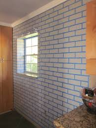 realistic faux brick wall with paint master of none