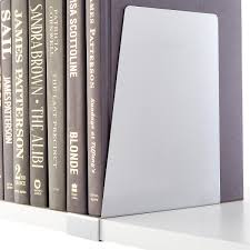 platinum elfa solid shelf book supports the container store