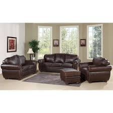 Modern Sofa And Loveseat Living Room Brown Leather Sofa With Arms And Backrest Design