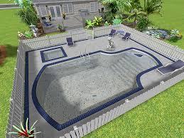 Backyard Design Tools Triyae Com U003d Backyard Above Ground Swimming Pool Ideas Various