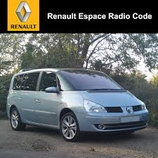 renault philippines renault espace radio code stereo decode car unlock fast service uk