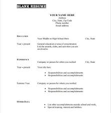 Interest And Hobbies For Resume Samples by Download Blank Resume Templates Haadyaooverbayresort Com