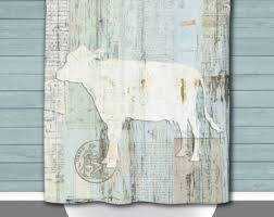 Shower Curtains Rustic Rustic Shower Curtain Etsy