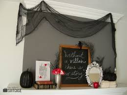 a halloween mantel inspired by my favorite villains my