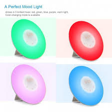 good mood colors digital alarm clock with morning wake up light nature sounds and
