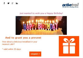 send birthday wishes for customers i activetrail