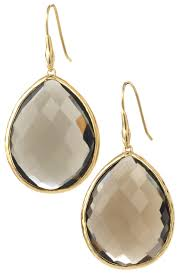 serenity earrings handmade gold smoky quartz drop earrings serenity drops