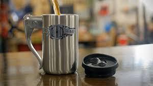 heated coffee mug these guys put a bike brake lever on a coffee mug and it looks