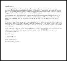 lecturer recommendation letter recommendation letters livecareer