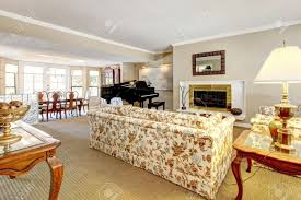 Small Living Room With Fireplace And Piano Elegant Living Room Interior With Piano Fireplace And Anqique