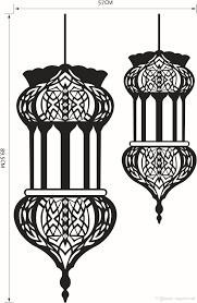 islam islamic muslin wall art mural decor arabic muslin culture material pvc size 57 x 89 5cm theme religious pattern muslin art decal usage boys room study room office dining room bathroom bedroom living room