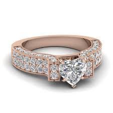 wedding ring big jewelry rings gold heart white diamond engagement wedding