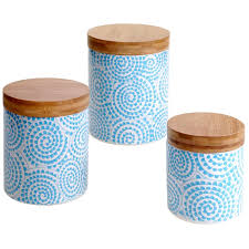 blue and white kitchen canisters white kitchen canisters jars you ll wayfair