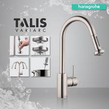 hansgrohe talis s kitchen faucet hansgrohe 06801001 chrome talis s variarc pull down spray kitchen