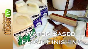 water based floor finish proper application