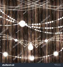 set glowing white string christmas lights stock vector 488718667