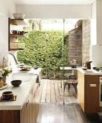 lade di vetro effetto cucina terrazzo con il muro di vetro bello non
