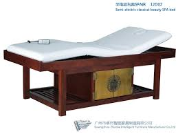 spa beds semi electric wood spa bed with goldleaf decoration 12d02 from