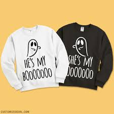 matching couple halloween sweatshirts she u0027s my boooooo