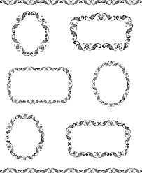 free vector clip vintage frame borders oh so nifty