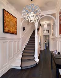 modern stair runner ideas hall contemporary with interior designer