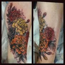 freshly inked marigolds by bonnie seeley at black thumb tattoos
