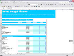Budget Calculator Spreadsheet by Home Budget Calculator In Excel Sheet Free