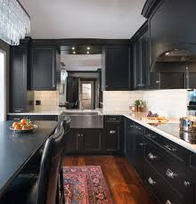 painted black cabinets in kitchen pictures painted black transitional style kitchen cabinets