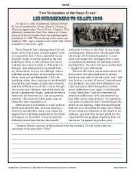 9th Grade Reading Comprehension Worksheets 52 Best Civil War Images On Civil Wars Teaching