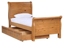 furniture wooden twin sleigh bed with trundle u2014 loft bed design
