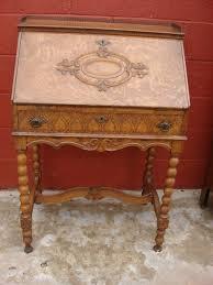 antique drop front desk vintage secretary desk desk