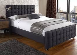 Super King Size Bed Dimensions Linen Charcoal Superking Torino Bed Handcrafted In The Uk