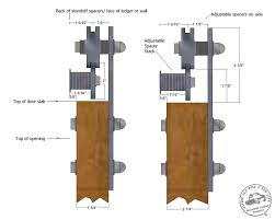 Barn Door Hangers Low Profile Barn Door Hardware U0026 Flat Track Sliding Door Kits