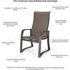 Telescope Furniture Replacement Slings by Telescope Casual Momentum Sling Patio Supreme Dining Arm Chair