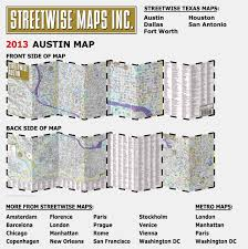 Map Of Ut Austin by Streetwise Austin Map Laminated City Center Street Map Of Austin