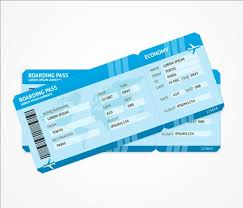 airline tickets template design vector 02 vector life free download