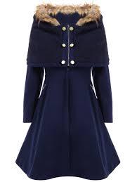 stylish hooded long sleeves zippered pocket design coat for women