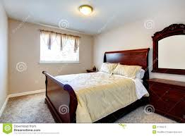 Cherry Wood Furniture Bright Bedroom With Cherry Wood Furniture Stock Photos Image