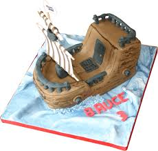 pirate ship kimboscakes 3d sculptured childrens cakes